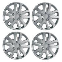"""Gyro 16"""" Car Wheel Trims Hub Caps Plastic Covers Set of 4 Silver Universal"""