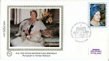 4 August 1980 Queen Mother 80th Birthday Small Benham Silk Bs8c First Day Cover
