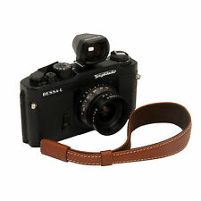 Light Brown leather wrist strap for RF film Digital camera Leica