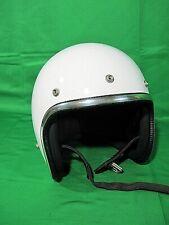 Vintage Arthur Fulmer AF40 White Motorcycle Safety Helmet Vintage Sz XL X-Large