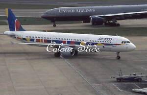 Air 2000 Airbus A321-211 G-OOAH, 3.99, Colour Slide, Aviation Aircraft