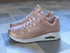 New listing Skechers Uno Street Los Angeles Rose Gold Memory Foam Size UK 7 / 40 Immaculate