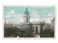 Antique colour printed postcard St Philips Cathedral & Monument Birmingham