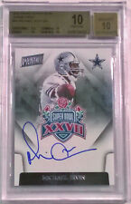 2015 Panini Super Bowl Signatures Michael Irvin On Card Auto BGS 10 / 10 Cowboys