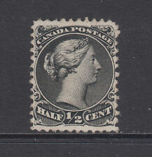 Canada Sc 21 MNG. 1868 ½c black Queen Victoria, well centered