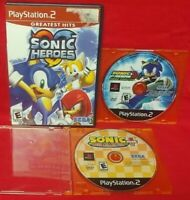 Sonic Hedgehog Heroes, Riders, Mega Collection PS2 Playstation 2 Tested Game Lot