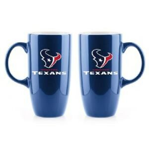 HIS & HERS HOUSTON TEXANS HIGH QUALITY, BONE CHINA COFFEE MUGS FROM DUCKHOUSE