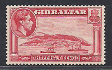 Gibraltar Stamp Sg 123a 1938 1 1/2d Perf 13 1/2 MVLH £275