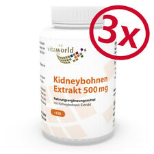 Vita World 3er Pack Kidney Bohnen Extrakt 500mg 3 x 120 Kapseln Made in Germany