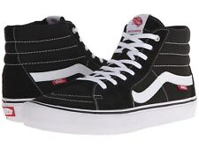 Unisex Vans Sk8 Canvas Suede Skate High-Top Shoes Color Black / White Brand New