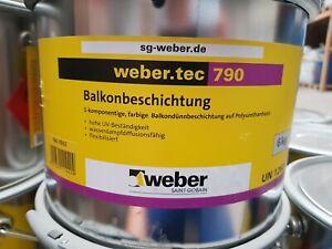 Weber 790 Balkonabdichtung Kellerabdichtung flexibel für aussen 6 kg   RAL 7032