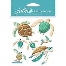 Scrapbooking Crafts Stickers Jolees Puffy 3D Sea Turtles Large Small Blue