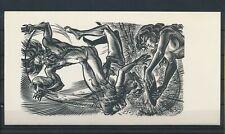 EX43100 EX Libris FRANK-IVO VAN DAMME nude women art fine x2