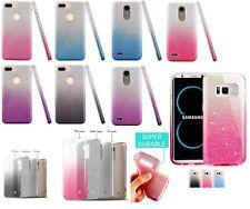 3IN1 2-Tone Glitter Slim PROTECTIVE TPU Case Cover For IPHONE LG SAMSUNG MOTO