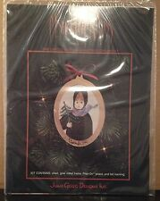 UNOPENED 1990 P Buckley Moss LIMITED EDITION CROSS STITCH CHRISTMAS ORNAMENT KIT