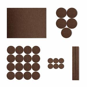 30 x Felt Pads Self Adhesive Black Sticky Furniture Floor Chair Legs Protectors
