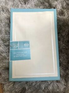 "Gartner Studios Invitation Kit, Pearl Ivory Border, 5.5"" x 8.5"" 50 Ct Sealed New"