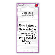 Dovecraft Clear Stamp Good Friends are Hard to Find - Cards Scrapbooking
