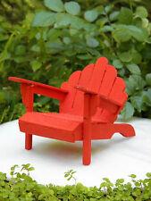 Miniature Dollhouse FAIRY GARDEN Furniture ~ Rustic Red Wood Adirondack Chair