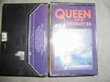 QUEEN,RARE,CASSETTE,TAPE,2 TAPES,LIVE AT WEMBLEY 86,MADE IN VENEZUELA,VG+++