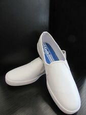 New Keds Women's White Leather Sneakers Loafers Shoes, Size 9