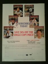 1994 Mickey Mantle Babe Ruth Yankees Baseball Diamond Subscribe Today Promo AD