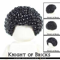 LEGO Minifigure Hair BLACK 87995 Female Male Boy Girl Bubble Style Afro