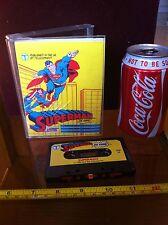 Superman The Game! Commodore 64 Cassette Retro Game Rare Vintage DC Comics