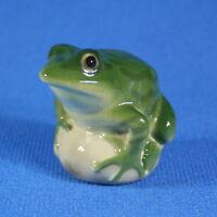 Frog Lomonosov Porcelain Figurine, Russia USSR LFZ