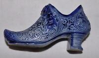 Cobalt Blue Victorian Decorative Shoe