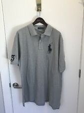 NWT Polo Ralph Lauren Men's Big Pony Gray Cotton Polo Shirt 4XLT