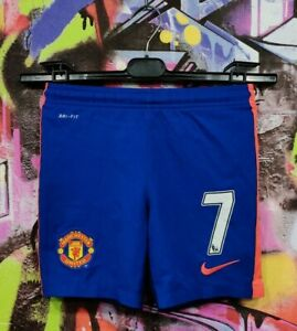 Manchester United FC Di Maria #7 Football Soccer Shorts Nike Boys 8-10 Years