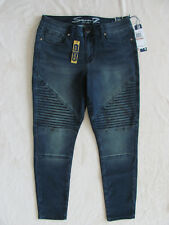 Seven7 Skinny Moto Jeans- Luxury Skin Fit-Arcadia Wash-Size 12- NWT $69