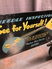 RARE VINTAGE RECORD NEEDLE DISPLAY WITH NEEDLES TESTER RECOTON