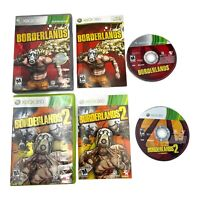 Borderlands 1 & 2 Bundle Lot (Microsoft Xbox 360) CIB Complete Manual FAST SHIP!