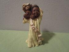 1996 Martha Root God Is Love All Gods Children Demetrious Angel Boy W/Teddy Bear