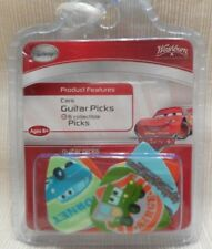 6 NEW DISNEY CARS MOVIE COLLECTOR GUITAR PICKS  in sealed package