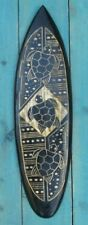 TURTLE WOOD CARVED TIKI BAR SURFBOARD HAWAIIAN SURF TROPICAL POLYNESIAN BEACH