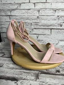 Dream Pairs Sandals Size 8.5 Jenner Dress Shoes Pink Faux Suede Heels