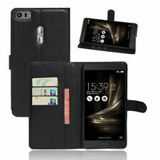 For Asus ZenFone 3 Ultra ZU680KL PU Leather Protective Wallet Cover Phone Case
