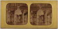 Francia Parigi Palais Dei Tuileries Salon Foto Stereo Diorama Vintage Albumina