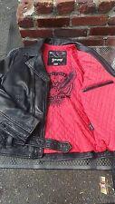 NEW Schott NYC Black Leather Motorcycle Retro Rodeo Jacket MC1141 size Large NWT