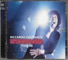 """RICCARDO COCCIANTE - RARO 2 CD """" ISTANTANEA  TOUR 98 """""""