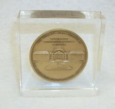 Vintage Christian Broadcasting Co Commemorative Coin in Acrylic Paperweight