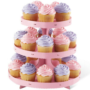 NEW Cupcake Stand Pink Borders Cake Decorating Cake Baker