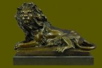 Vintage Brass Roaring Lion Large Statue Sculpture 10\u201d EUC