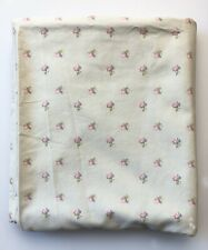 Simply Shabby Chic Blush Beauty Queen Flat Sheet Mint Green Pink Roses 87 x 100