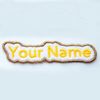 Personalised Embroidered patch, custom patch, embroidery