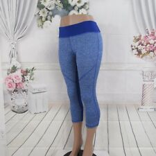 Athletic Royal Blue Crop Capri Yoga Run Gym Leggings Pants Size L