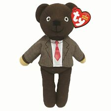 "Mr Bean Teddy Bear Beanie Baby Plush Soft Toy Shirt and Tie - 9"" by TY"